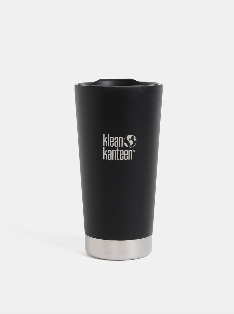 Černý nerezový termohrnek Klean Kanteen 592 ml