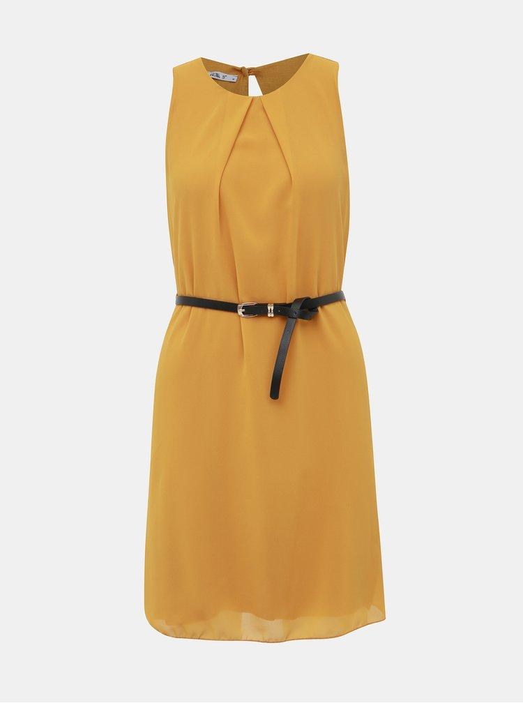 Hořčicové šaty Haily´s Tanja