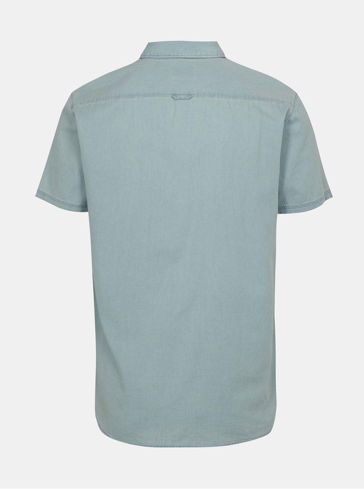 Camasa albastru deschis cu maneci scurte Selected Homme Solid