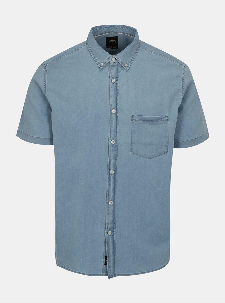 Camasa albastru deschis din denim Burton Menswear London