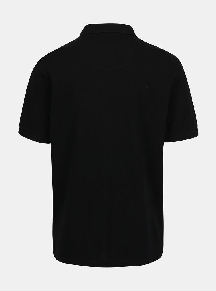 Černé basic polo tričko s výšivkou loga Raging Bull