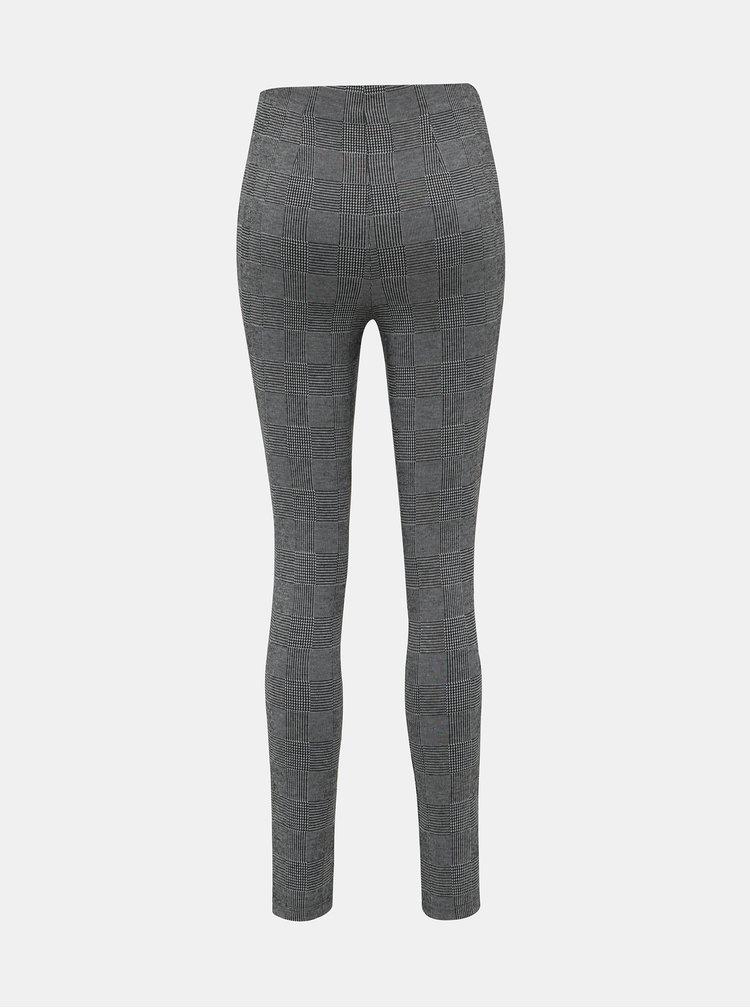 Šedé dámske kockované nohavice Haily´s Gloria