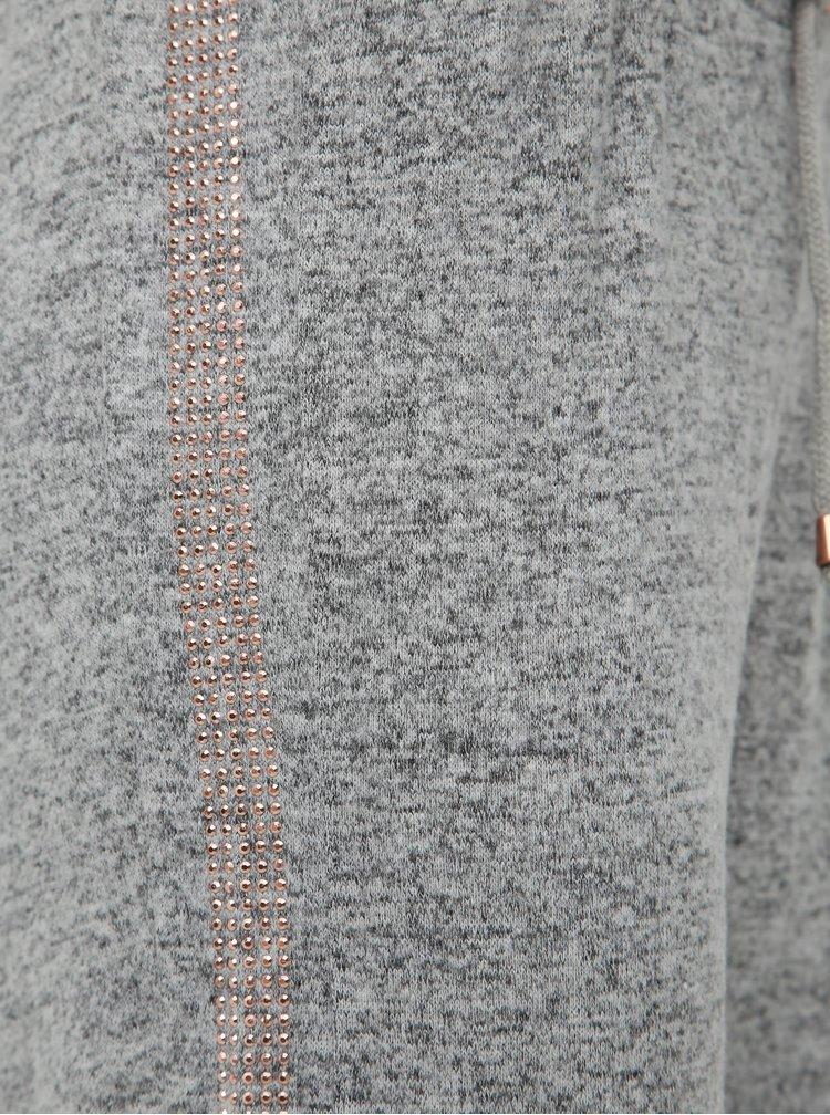 Šedé dámské žíhané tepláky Haily´s Vivy