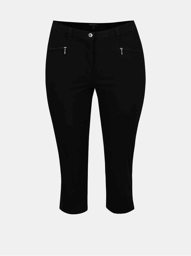Černé zkrácené kalhoty Ulla Popken