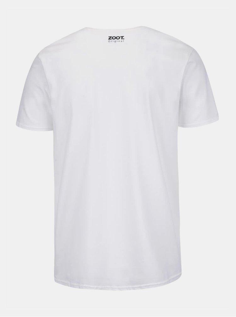 Bílé pánské tričko s potiskem ZOOT Originál Posledné čisté tričko