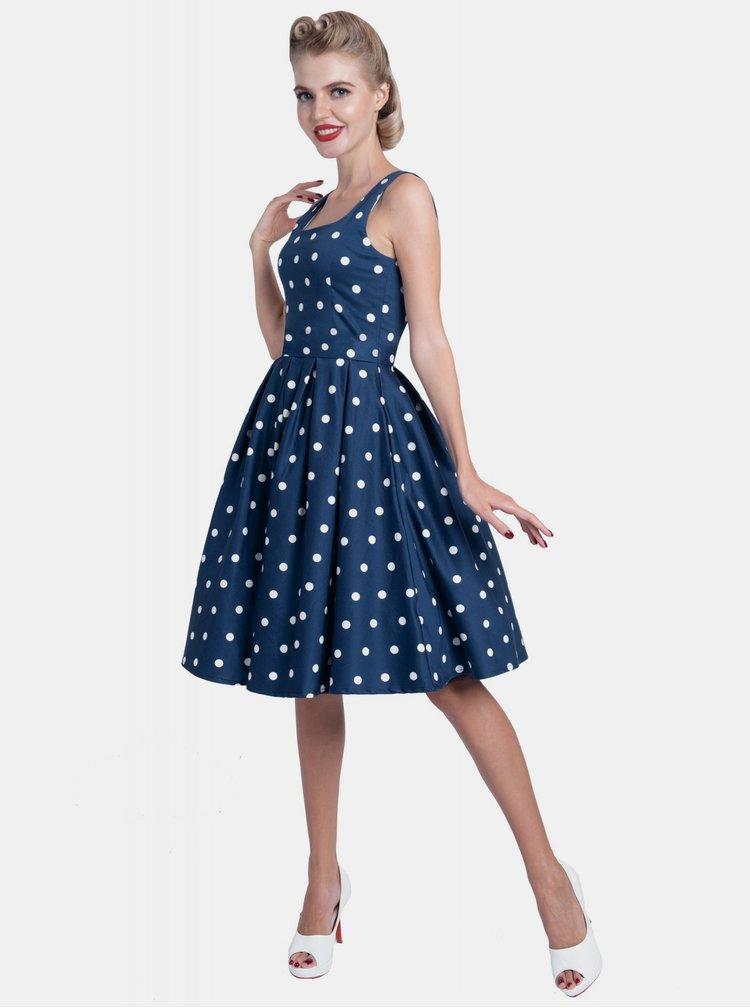 Modré bodkované šaty Dolly & Dotty Amanda