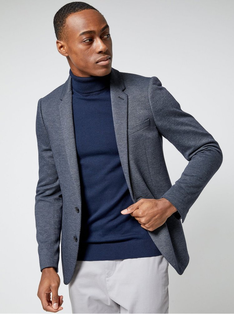 Tmavomodrý basic rolák Burton Menswear London