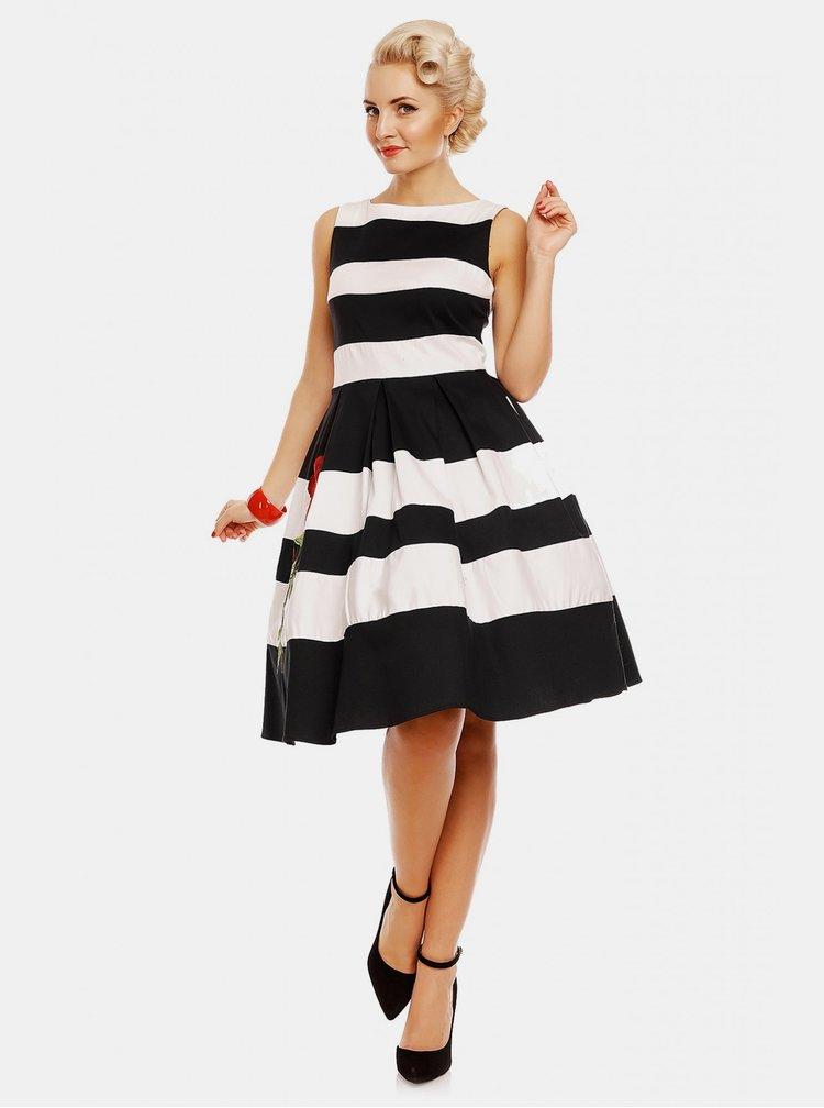 Čierno-biele pruhované šaty Dolly & Dotty Annie
