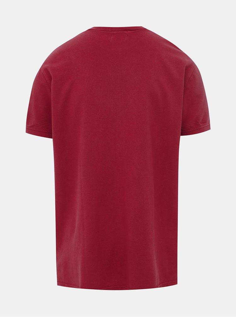 Červené pánské basic slim fit polo tričko Pepe Jeans Vincent