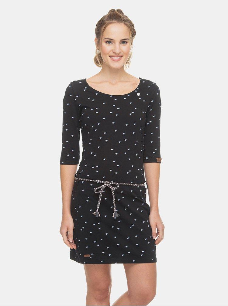 Čierne vzorované šaty Ragwear Tamy