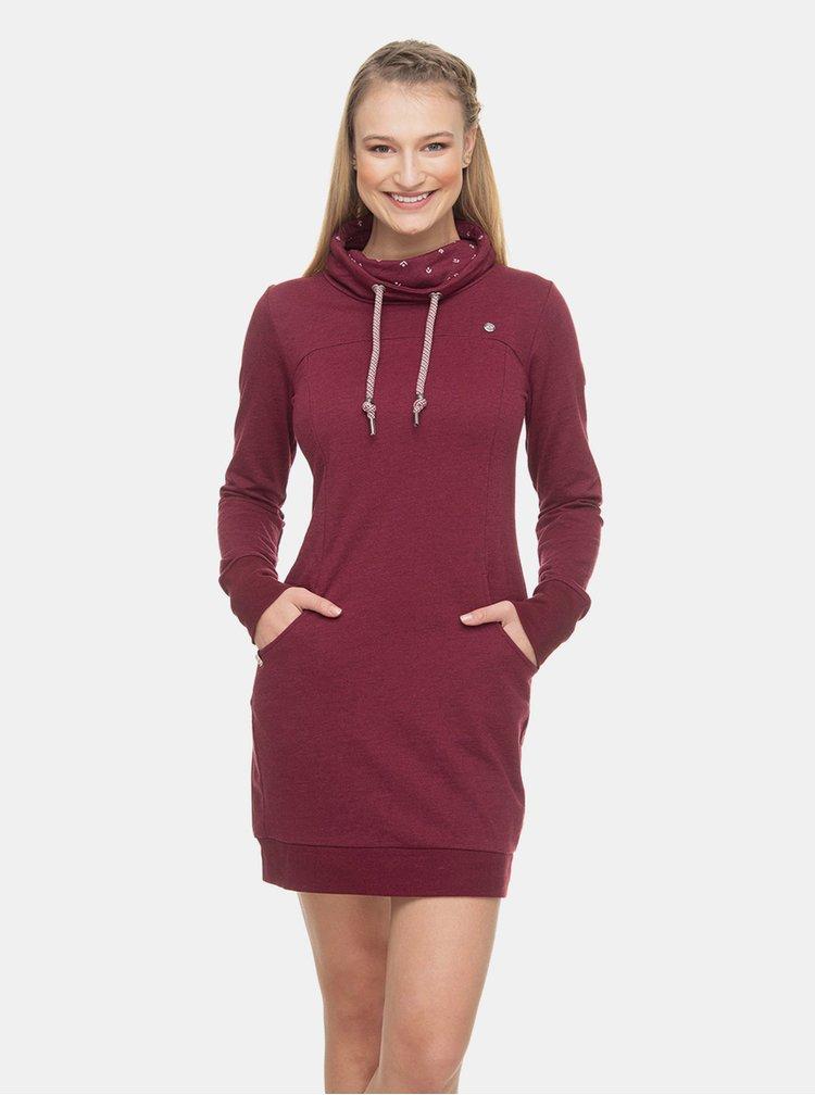 Vínové mikinové šaty Ragwear Dita