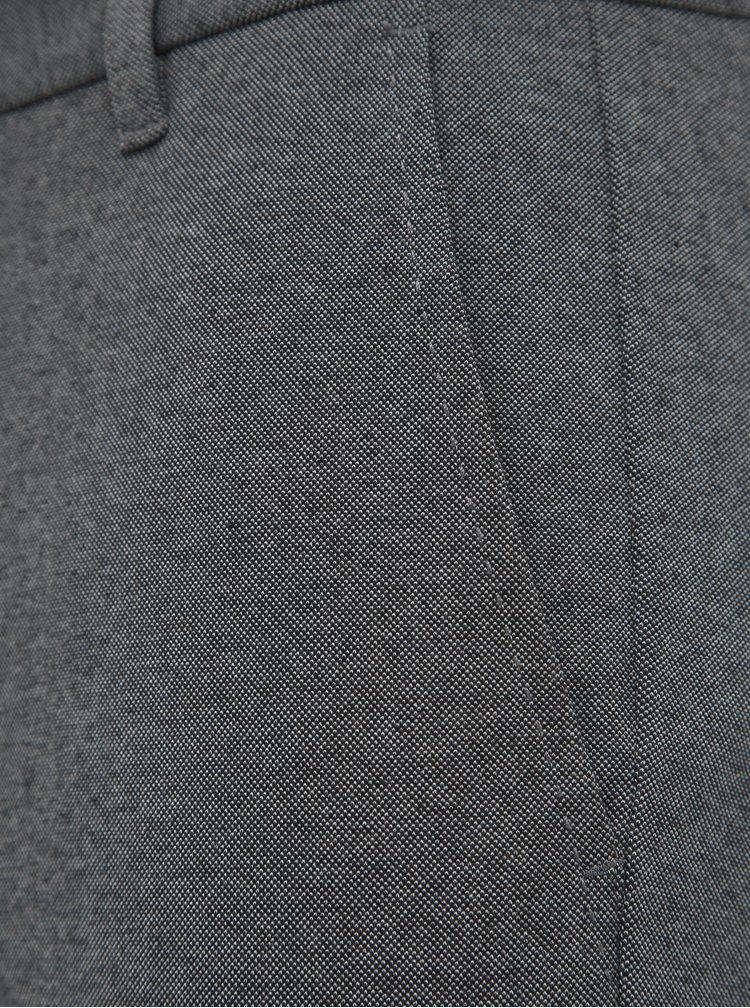 Šedé zkrácené chino kalhoty Lindbergh