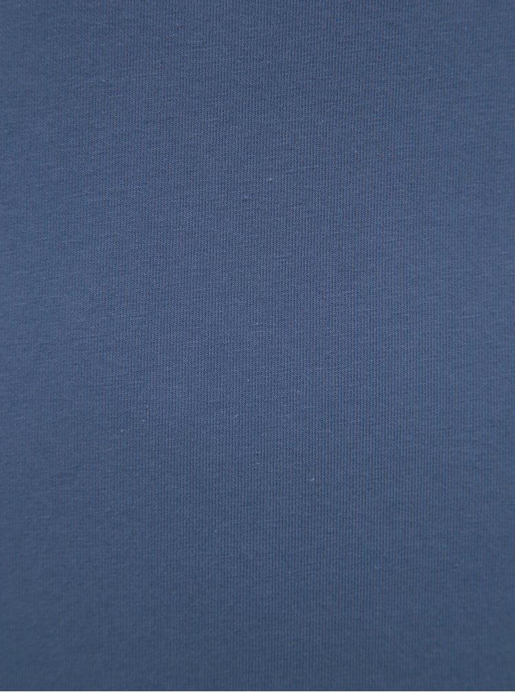 Modré dlouhé basic tílko Yest