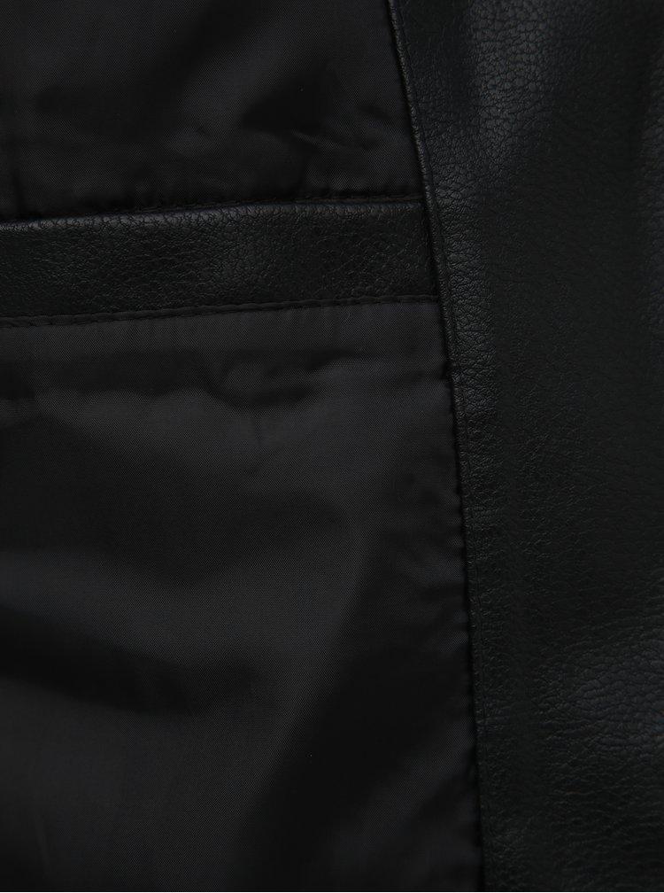 Černá koženková bunda Jack & Jones Derrick
