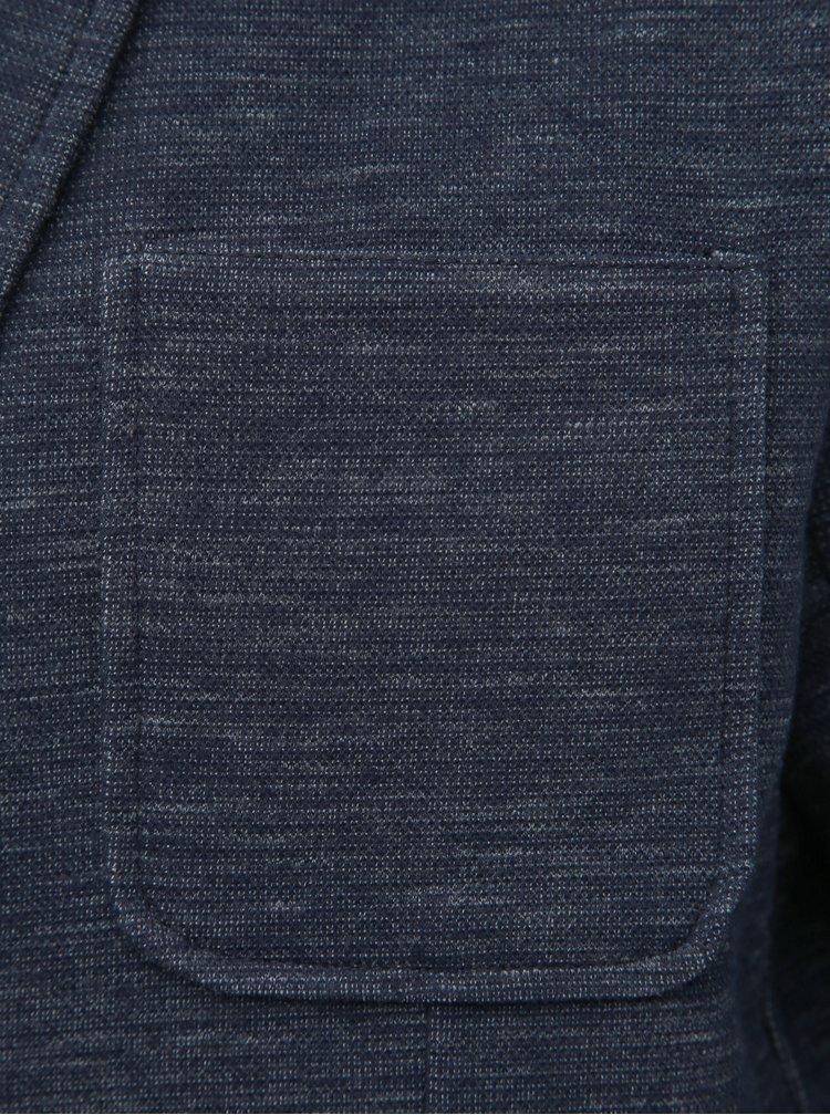 Tmavě modré žíhané sako Jack & Jones Shot
