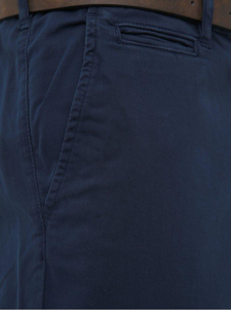 Tmavomodré chino nohavice Jack & Jones Roy