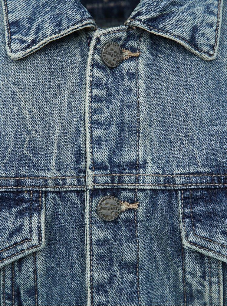Modrá džínová bunda ONLY & SONS Coin
