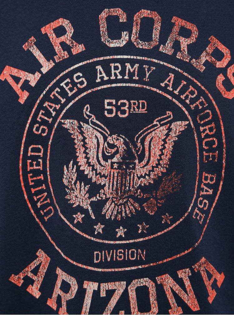 Tmavě modré tričko s potiskem Jack & Jones Greg
