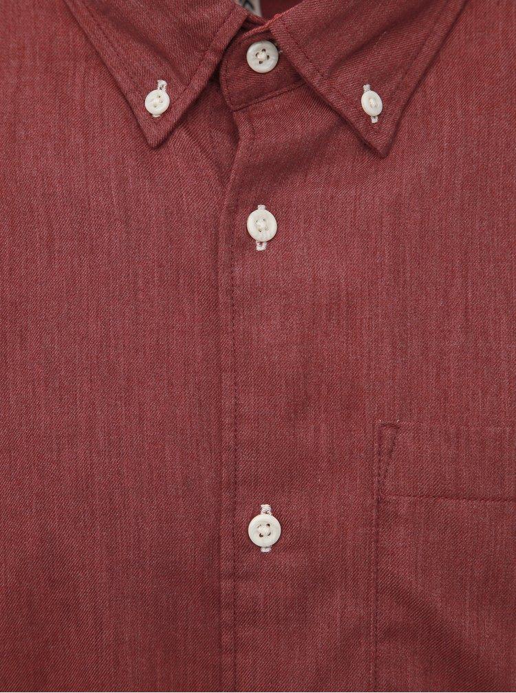Červená košeľa Jack & Jones Lunddahl