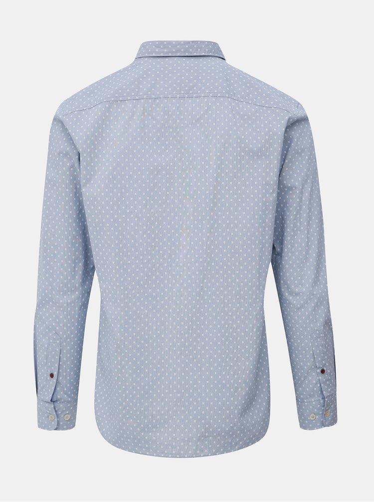 Svetlomodrá vzorovaná košeľa Jack & Jones Steve