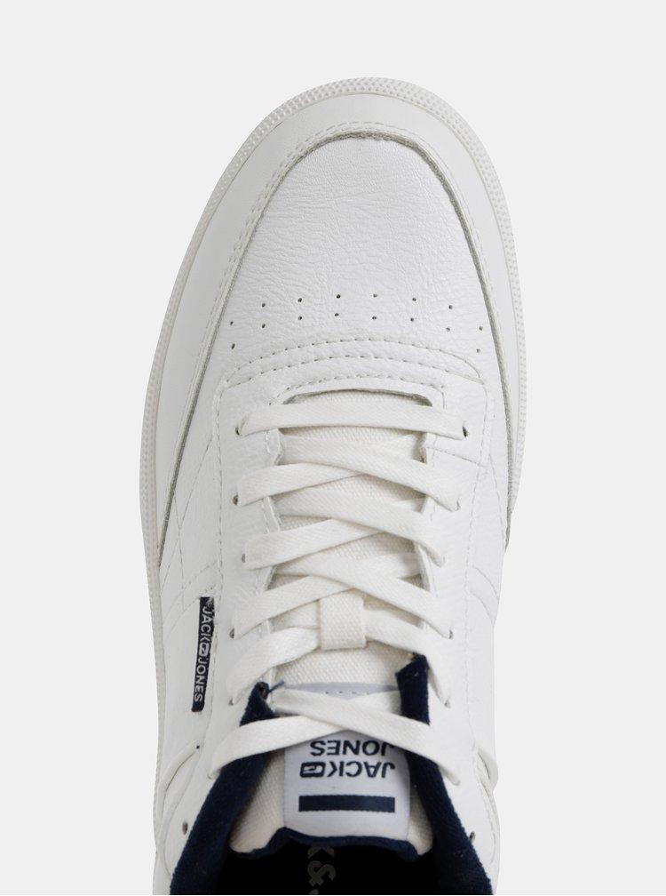 Biele pánske kožené tenisky Jack & Jones Radley