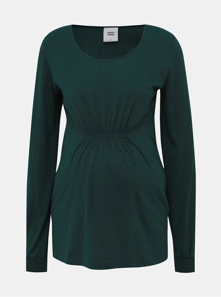 Tmavozelené tehotenské tričko Mama.licious Ninna
