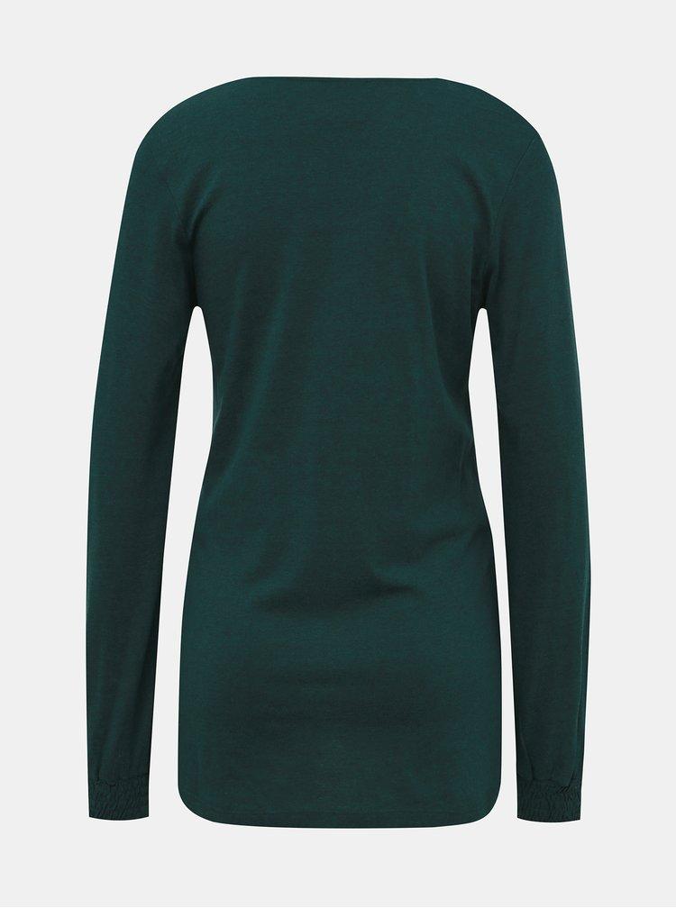 Tmavě zelené těhotenské tričko Mama.licious Ninna