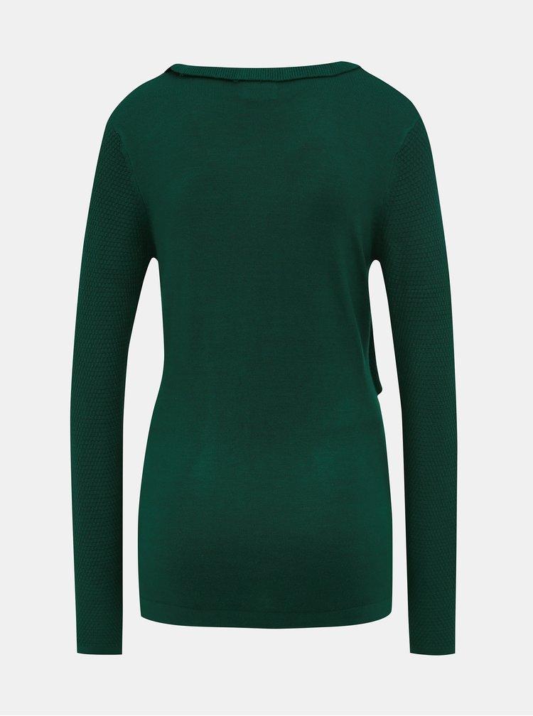 Tmavě zelený těhotenský/kojicí svetr Mama.licious Kirstine