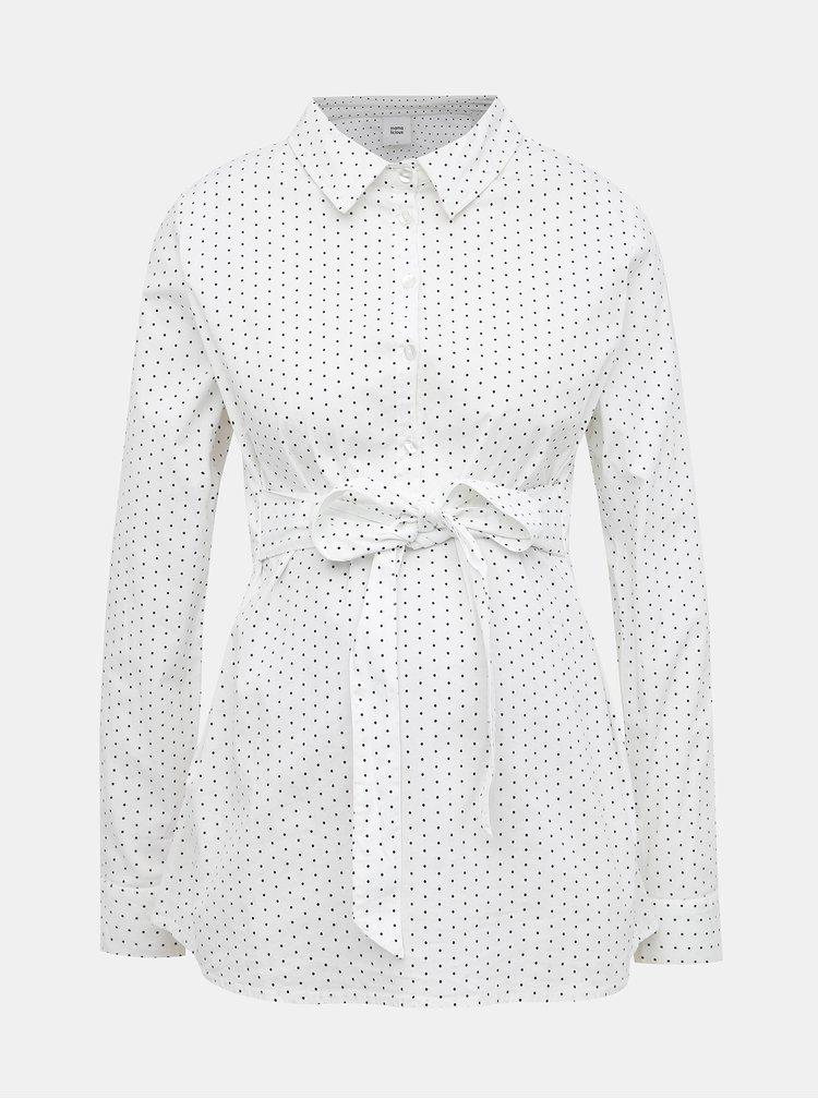 Biela tehotenská bodkovaná košeľa Mama.licious Lenna