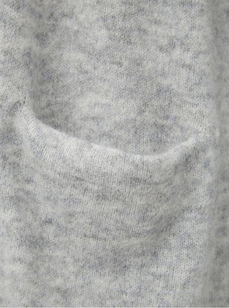 Svetlošedý kardigan s prímesou vlny Selected Femme Lanna