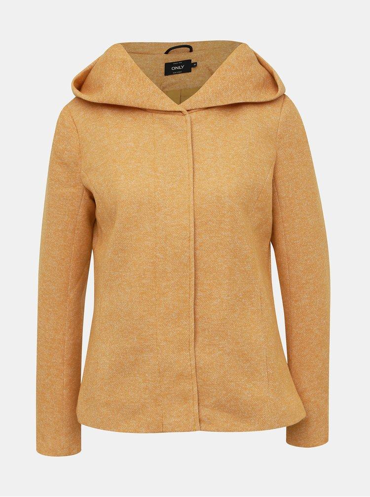 Žlutý žíhaný krátký kabát ONLY Sedona