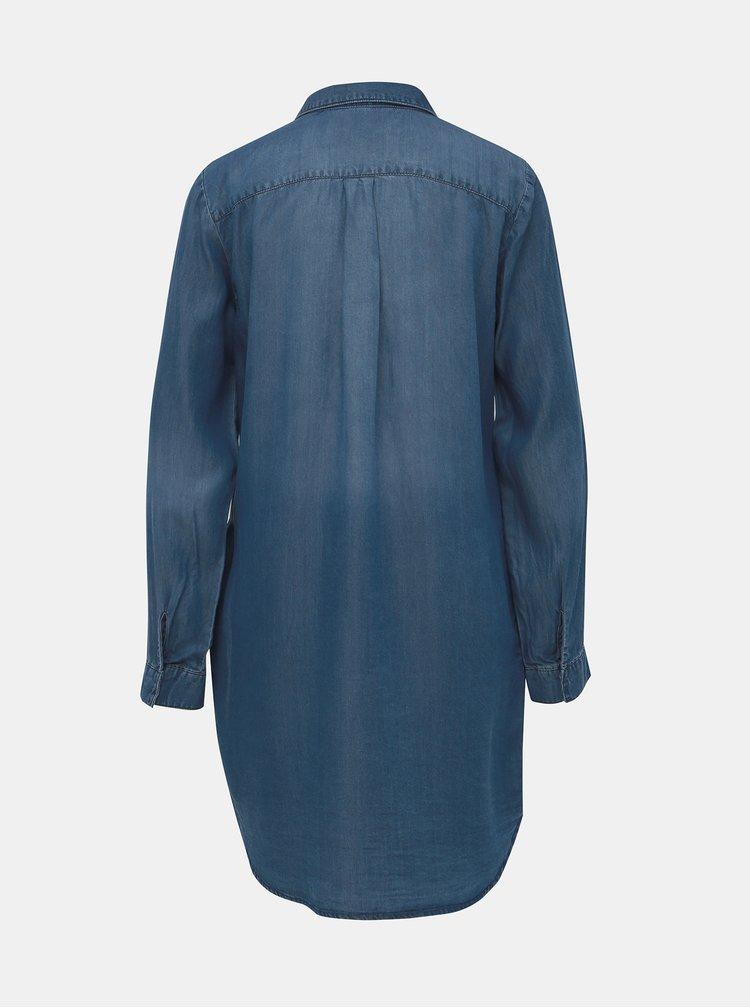 Modré košilové džínové šaty VERO MODA Silla