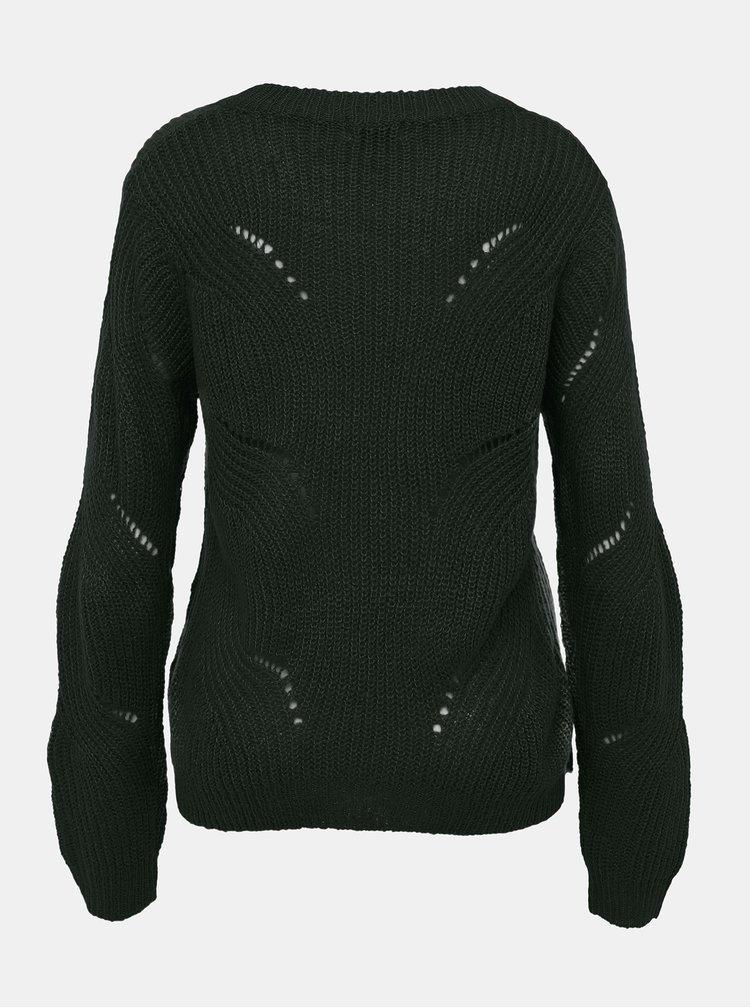 Tmavozelený sveter Jacqueline de Yong Daisy