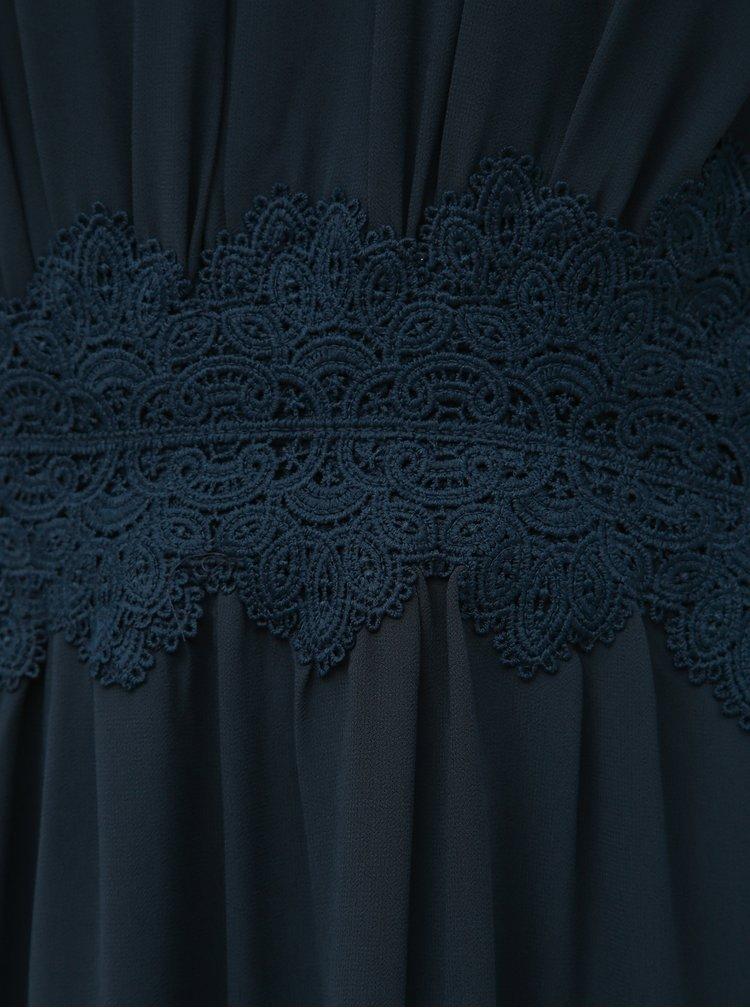 Tmavě modré maxišaty VILA Milina