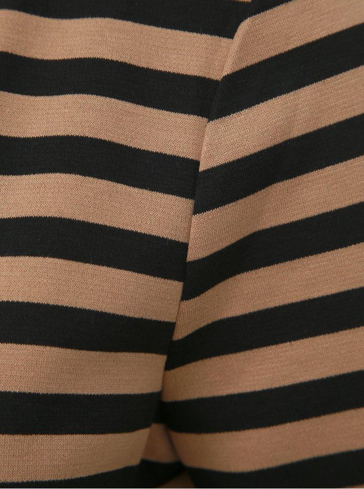 Hnědé pruhované basic šaty VILA Tinny
