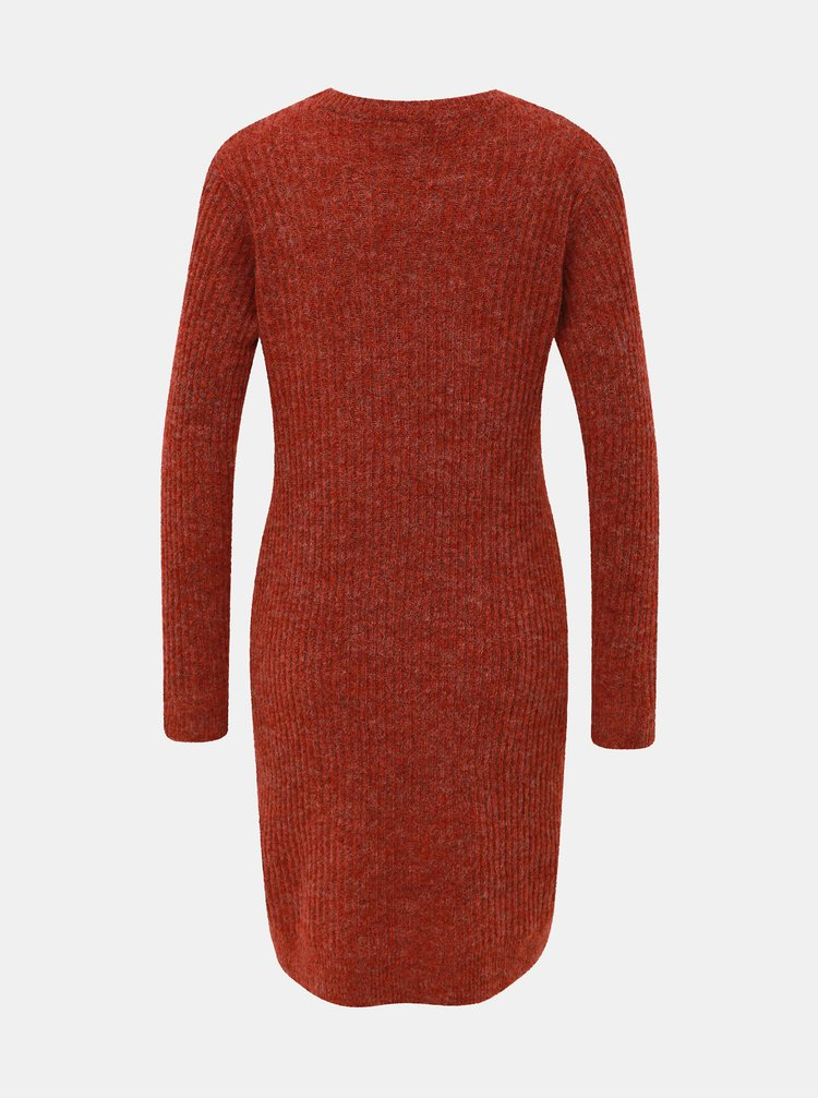 Červené svetrové šaty s prímesou vlny VILA Owsa