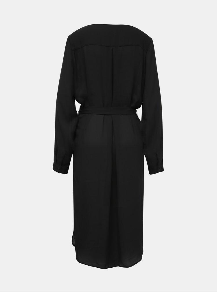 Černé košilové šaty VILA Lucy
