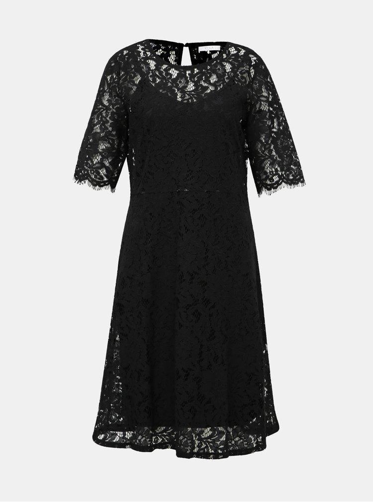 Čierne krajkové šaty VILA Brielle