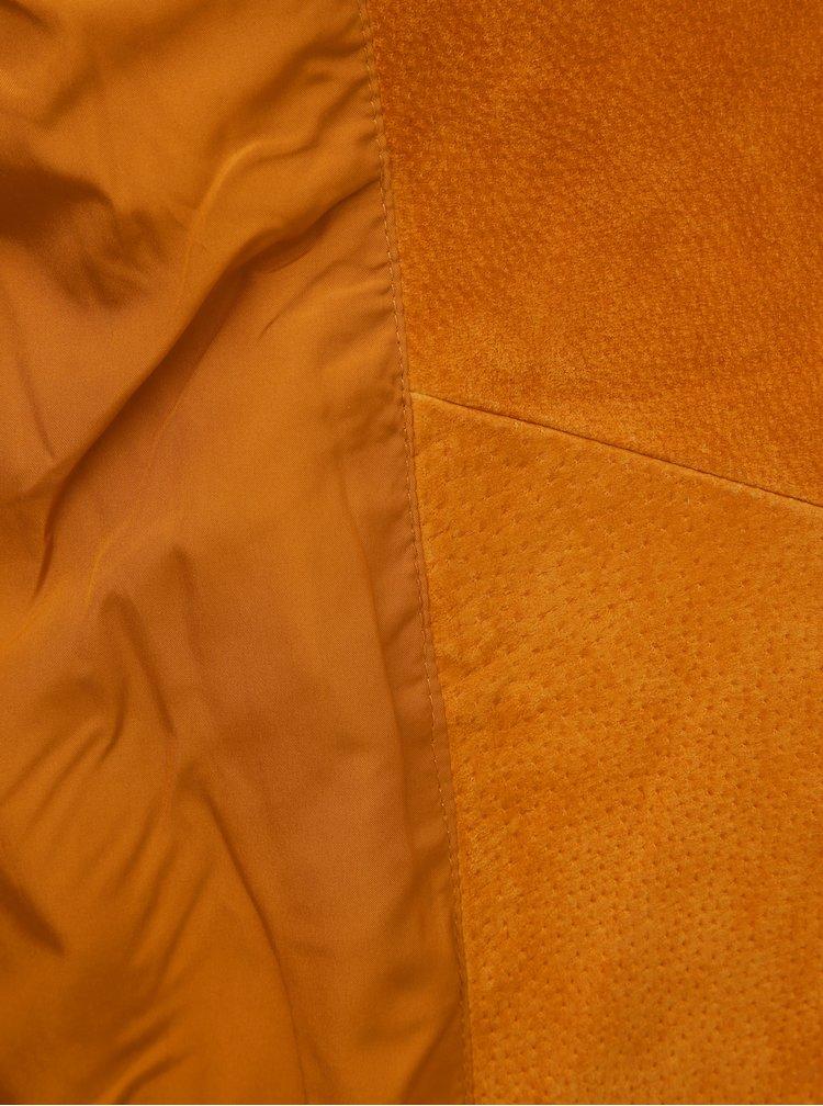 Horčicová semišová bunda VILA Cris