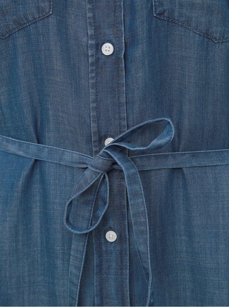 Modré džínové košilové šaty VILA Suster