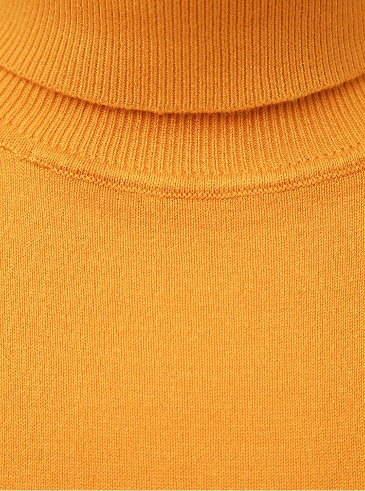 Žlutý basic svetr s rolákem VILA Bolonia