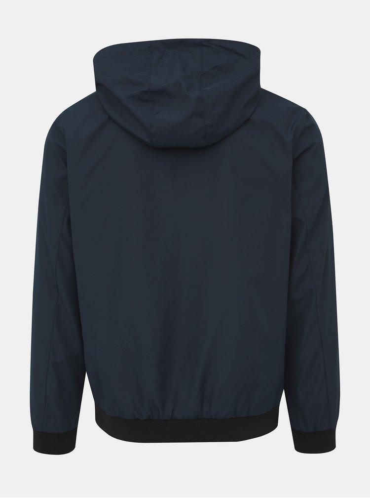 Tmavě modrá voděodpudivá bunda Jack & Jones Alu