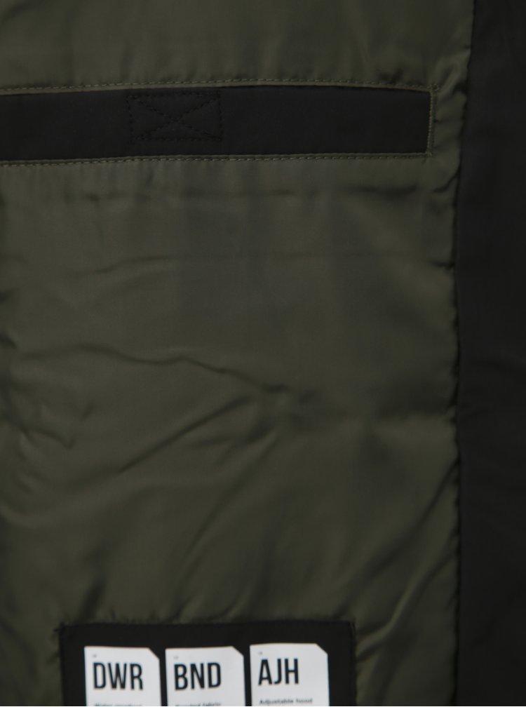 Čierna vodeodpudivá bunda Jack & Jones Alu