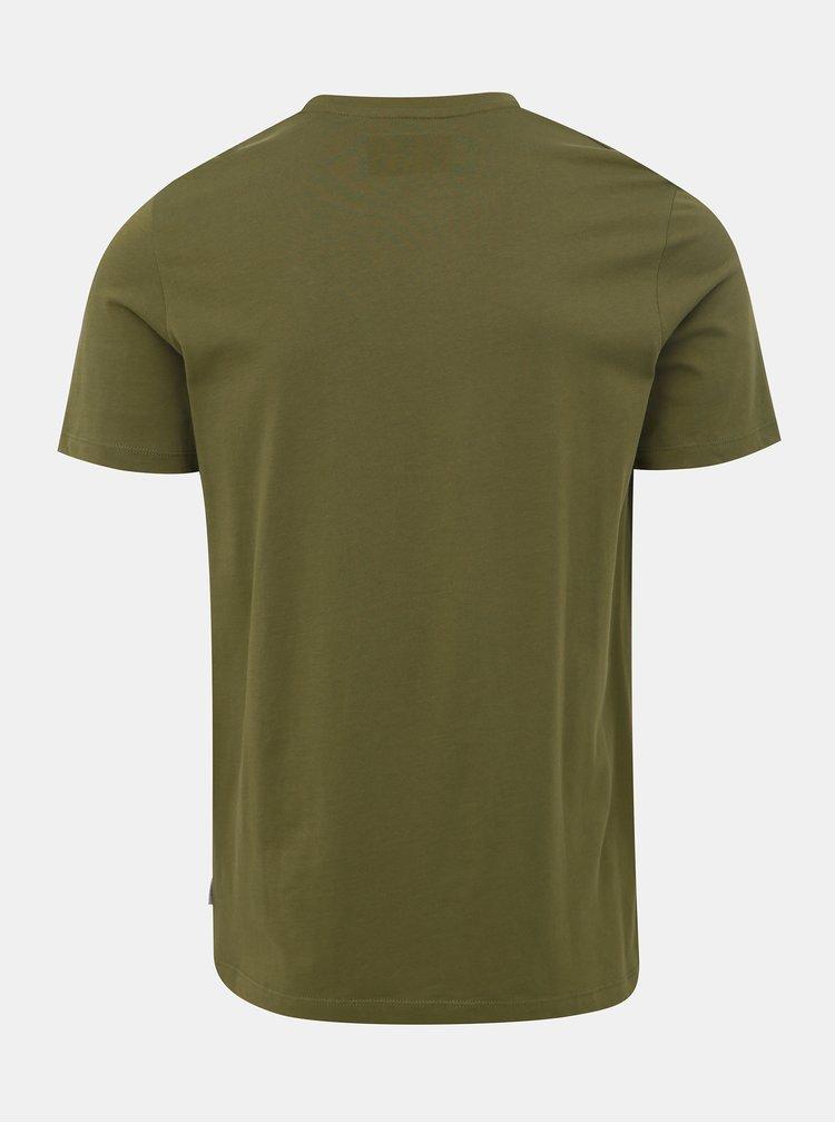 Kaki tričko s potlačou Jack & Jones Sound