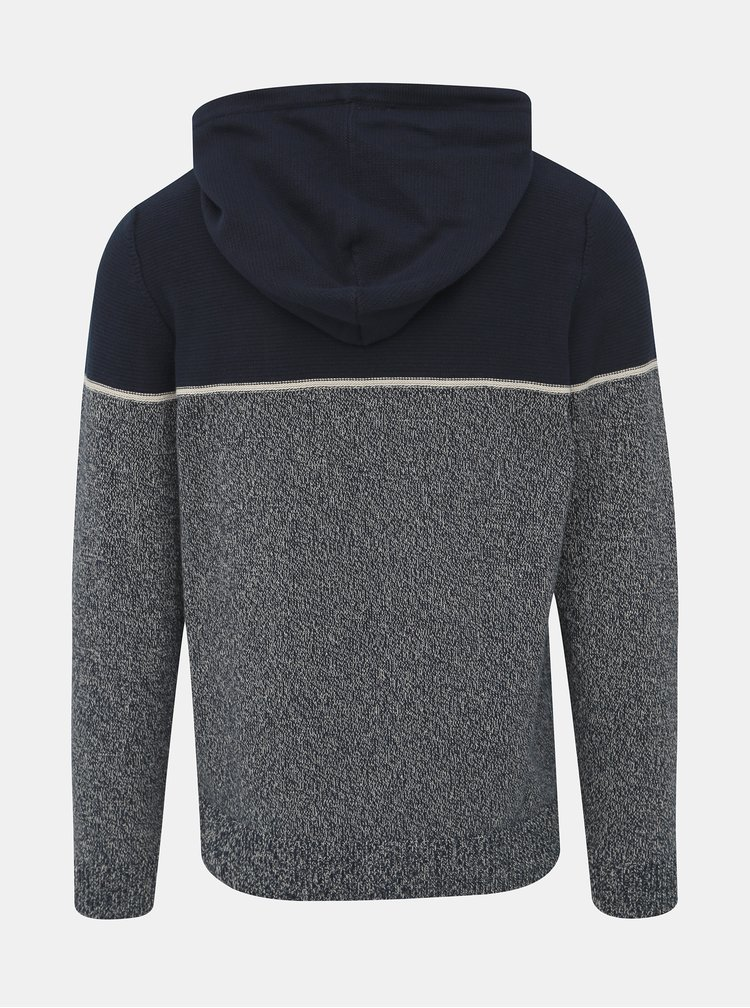 Tmavomodrý žíhaný sveter Jack & Jones Brayson