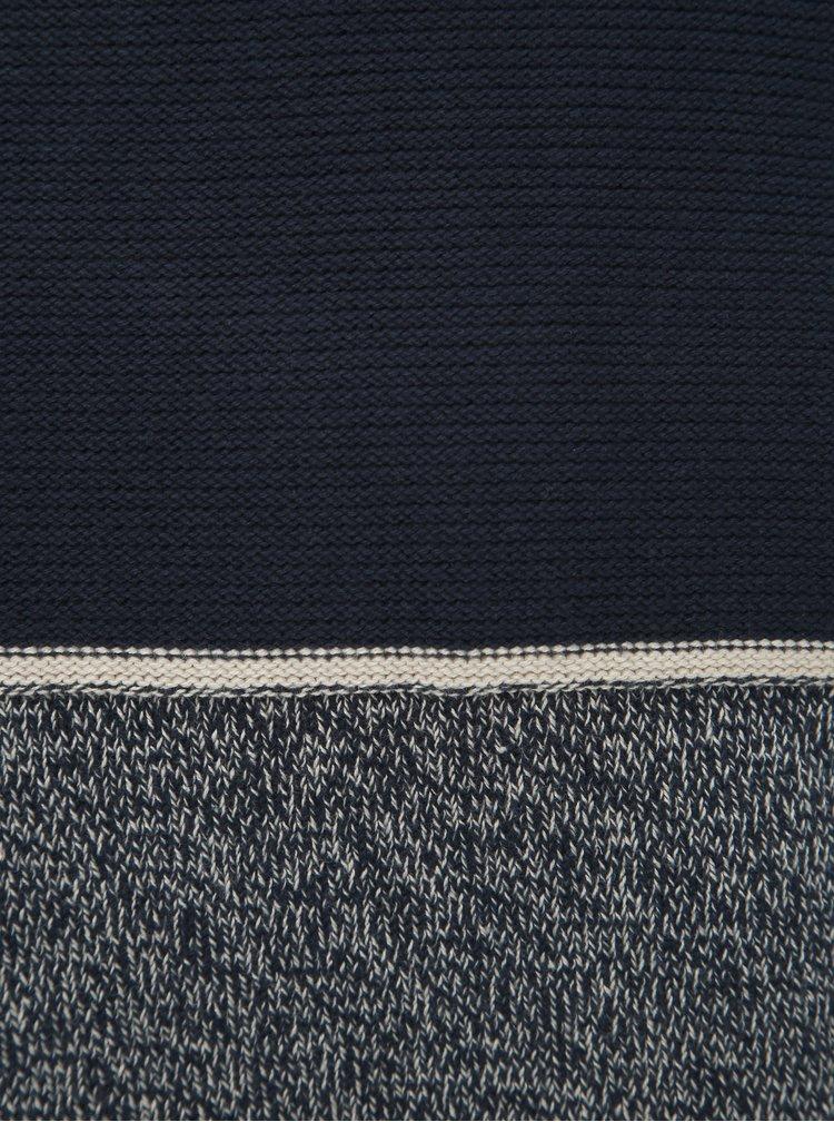 Tmavě modrý žíhaný svetr Jack & Jones Brayson