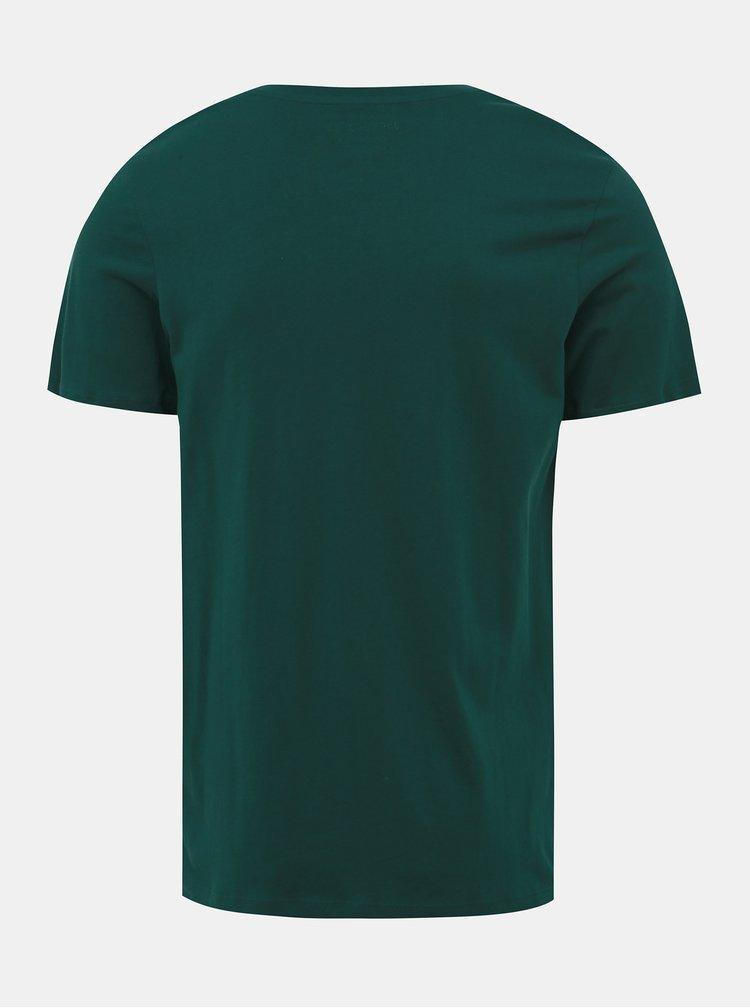 Zelené tričko Jack & Jones Vincey