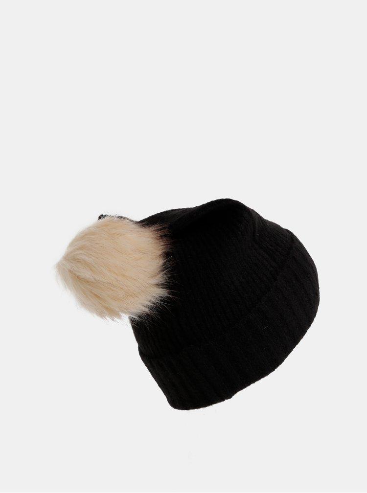 Čierna čapice s prímesou vlny Pieces Diana