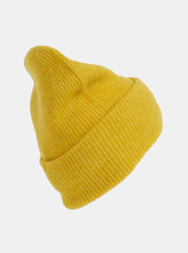 Žltá vlnená čapica Pieces Josefine