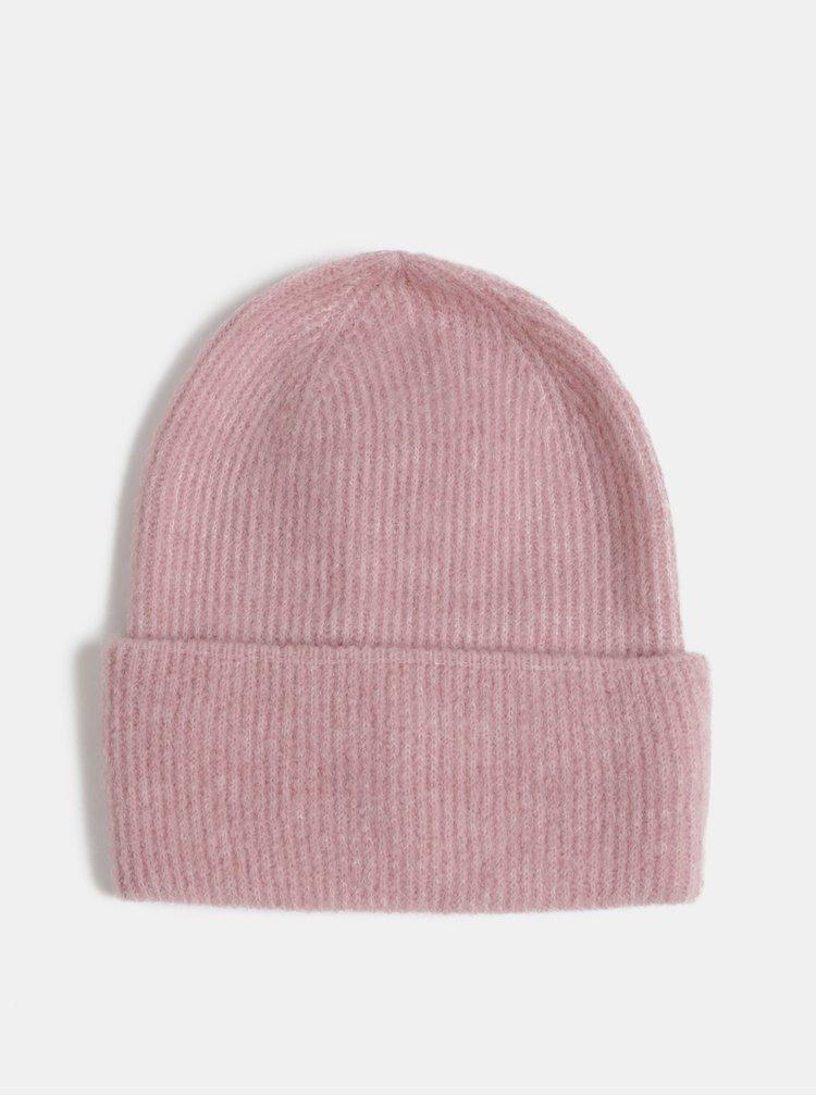 Rúžová vlnená čapica Pieces Josefine